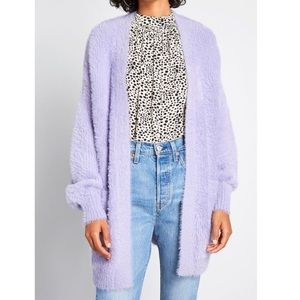 ModCloth ultra soft lavender fuzzy cardigan
